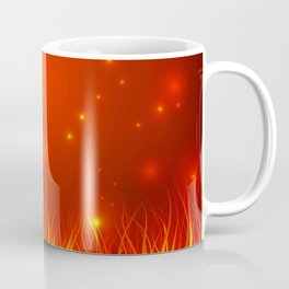 Flames from the fire and spark. Coffee Mug