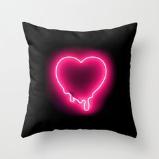Heart (Neon) Throw Pillow