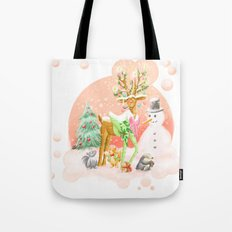 Reindeer Before Christmas Tote Bag