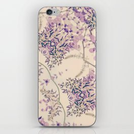 47 Wisteria Circle - Vintage Cream and Lavender Purple Mandala iPhone Skin
