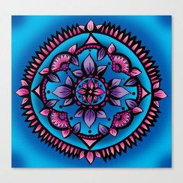 Shining Sunflower Mandala Canvas Print