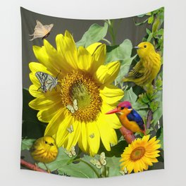 Sunflower feast Wall Tapestry