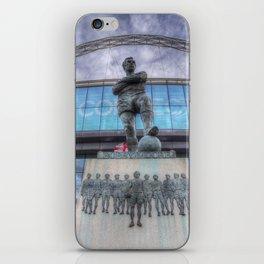 Booby Moore Statue Wembley Stadium iPhone Skin