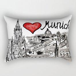 I love Munich Rectangular Pillow