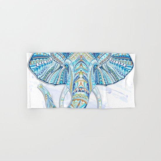 Blue Ethnic Elephant Hand & Bath Towel
