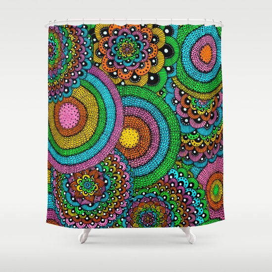 Heart Time Shower Curtain