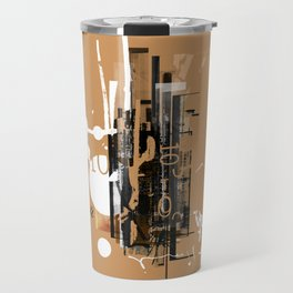 """Four Tet"" Graphic Art Print Travel Mug"