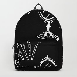 Cosmetics Themed Illustration Backpack