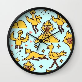 Chocobo Collage Wall Clock