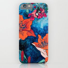 Blooming Night Garden: Twilight iPhone Case
