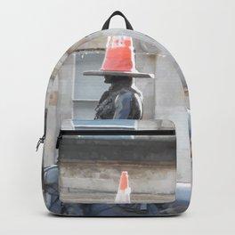 Scottish Photography Series (Vectorized) - Duke of Wellington Statue Glasgow #2 Backpack