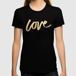 Love Gold Black Type T-shirt