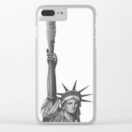 If Negan Were President; Statue of Lucille Clear iPhone Case