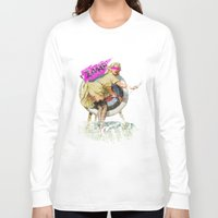 butt Long Sleeve T-shirts featuring Lucky Butt by melted