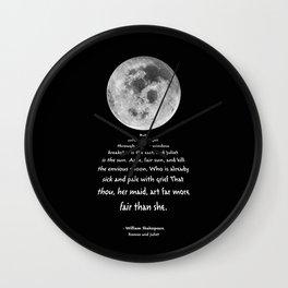Moon Bridge Shakespeare Wall Clock