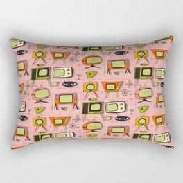 Retro Tv Pink #midcentury Rectangular Pillow