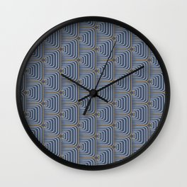 Rounded Illusion Squares Wall Clock