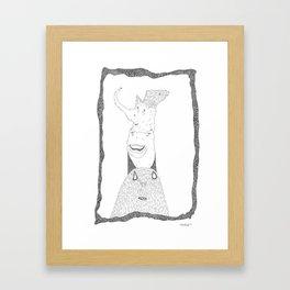 a new character Framed Art Print
