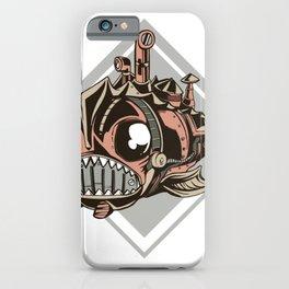 Steampunk fish iPhone Case