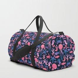Sea life. Watercolor Duffle Bag