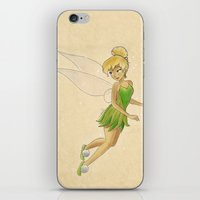 tinker bell iPhone & iPod Skins featuring Tinker bell by Joan Pons