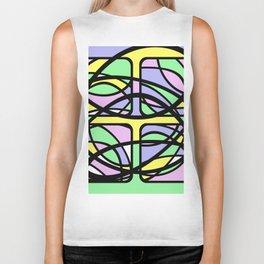 Community III - Abstract, pastel pattern Biker Tank