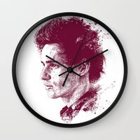 eddie vedder Wall Clocks featuring Eddie Redmayne by Chadlonius
