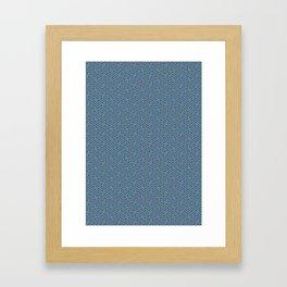 Purple Lime Sayagata Pattern - Auspicious Sacred Geometry Framed Art Print