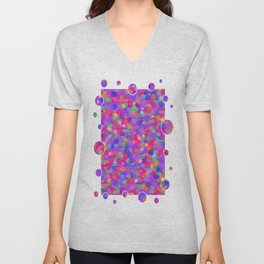 Colorful Bubbles Unisex V-Neck