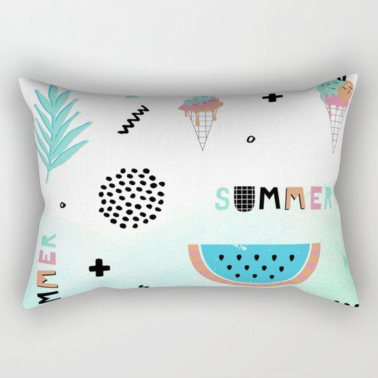 Memphis summer Rectangular Pillow