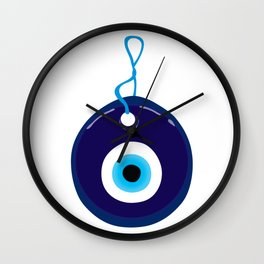 Turkish Blue Eye Bead Wall Clock