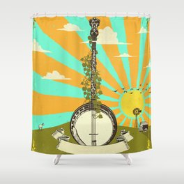 BANJO SUNRISE Shower Curtain