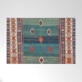 Sivas Antique Turkish Niche Kilim Print Welcome Mat
