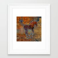 pony Framed Art Prints featuring Pony by evisionarts