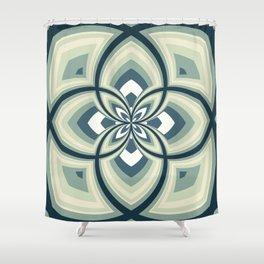Spiral Rose Pattern E 2/4 Shower Curtain