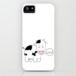 SOLD! Scary Cow - Inspired by a True Incident! iPhone Case