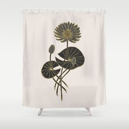 Egyptian Sacred Waterlily Shower Curtain