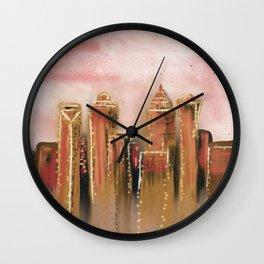 Abstract Charlotte Skyline Wall Clock