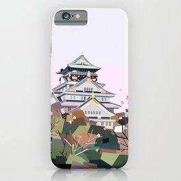 Geometric Osaka castle, Japan iPhone Case