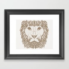 Lion heart Framed Art Print