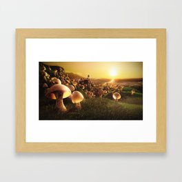 The Mushrooms are Coming Framed Art Print