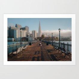 Urban Boardwalk Art Print