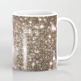 Taupe Sparkle Stars Coffee Mug