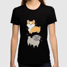 Corgi and pug T-shirt