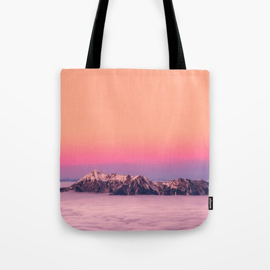 Silence over the Mountains Tote Bag
