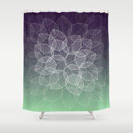 Dry Leaves - Purple Shower Curtain