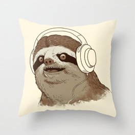 What is a sloths favourite music? Throw Pillow