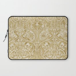 William Morris Vintage Bluebell Gold & Vellum Laptop Sleeve