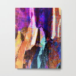 ABSTRACT NATURE // NEW ZEALAND // RAINBOW ROCKS Metal Print