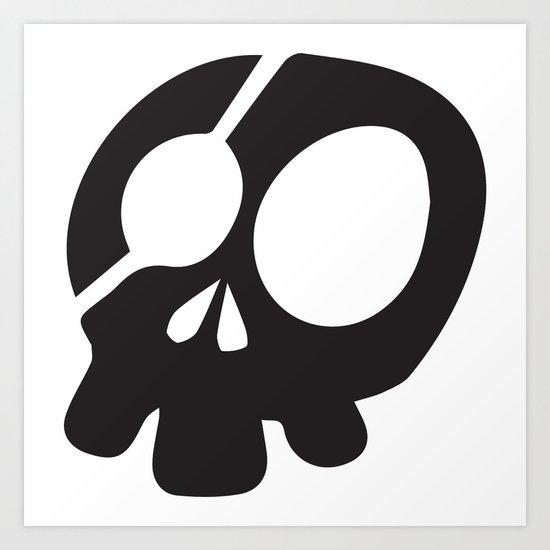 Skull Pizza Pride Art Print